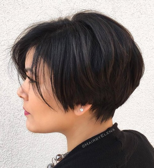 50 Classy Short Hairstyles for Thick Hair | The Fashionaholic